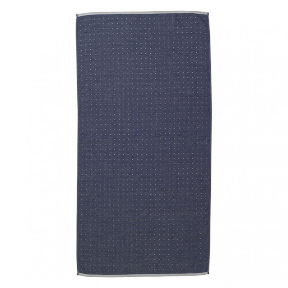 Ręcznik bawełniany SENTO - niebieski - ferm LIVING 70 x 140 cm