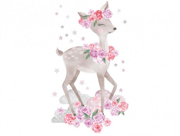 SARENKA   naklejka do pokoju dziecięcego - różne kolory - Pastelowelove różowy, połysk