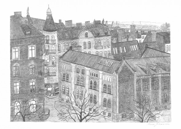 Skandynawski plakat HAGABION - Mona Johansson - Fine Little Day