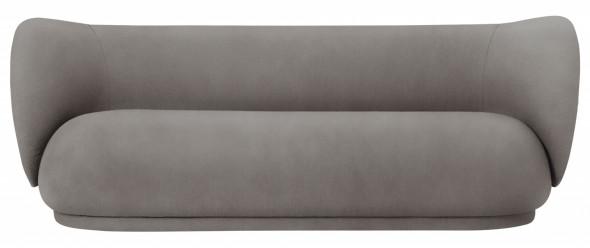 Sofa trzyosobowa RICO - ferm LIVING Brushed - Off-White   biały