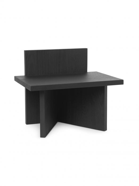 Stołek Oblique - ferm LIVING | czarny