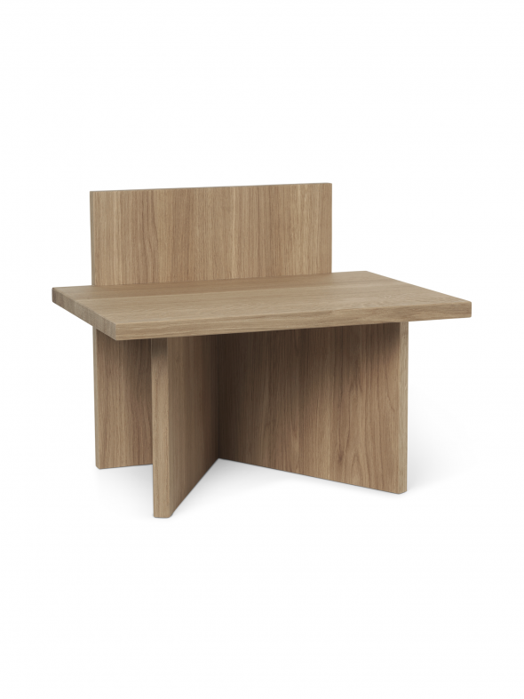 Stołek Oblique - ferm LIVING naturalny | oak
