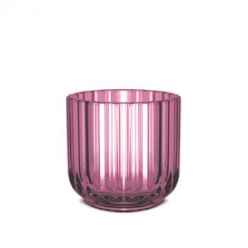 Świecznik szklany - purple / flioletowy - Lyngby