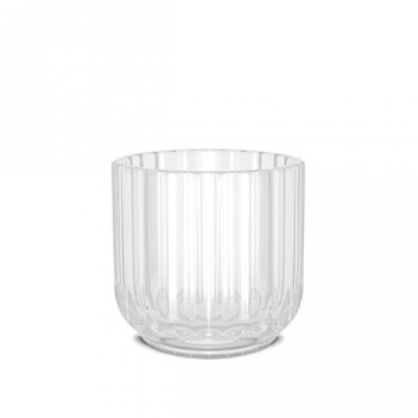 Świecznik szklany - różne kolory - Lyngby clear | przezroczysty