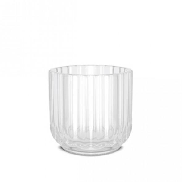 Świecznik szklany - różne kolory - Lyngby frost | biały matowy