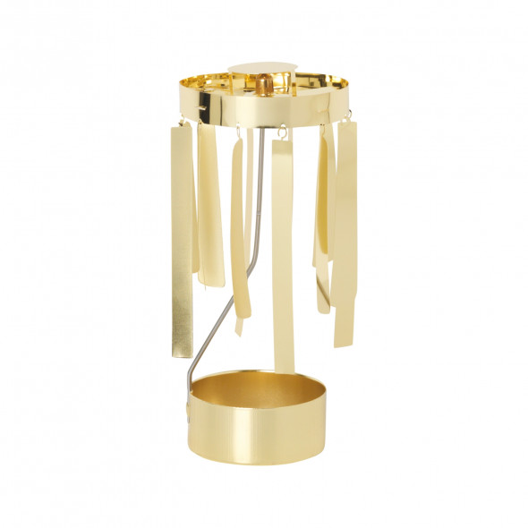 Świecznik Tangle Spinning Tealight - ferm LIVING złoty | gold