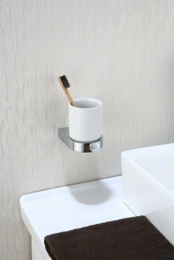 Art Platino Liwio Akcesoria kubek szklanka z uchwytem ściennym chrom LIW-56050