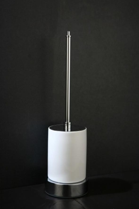 Art Platino Liwio Akcesoria szczotka wc stojąca biała porcelana chrom LIW-56091