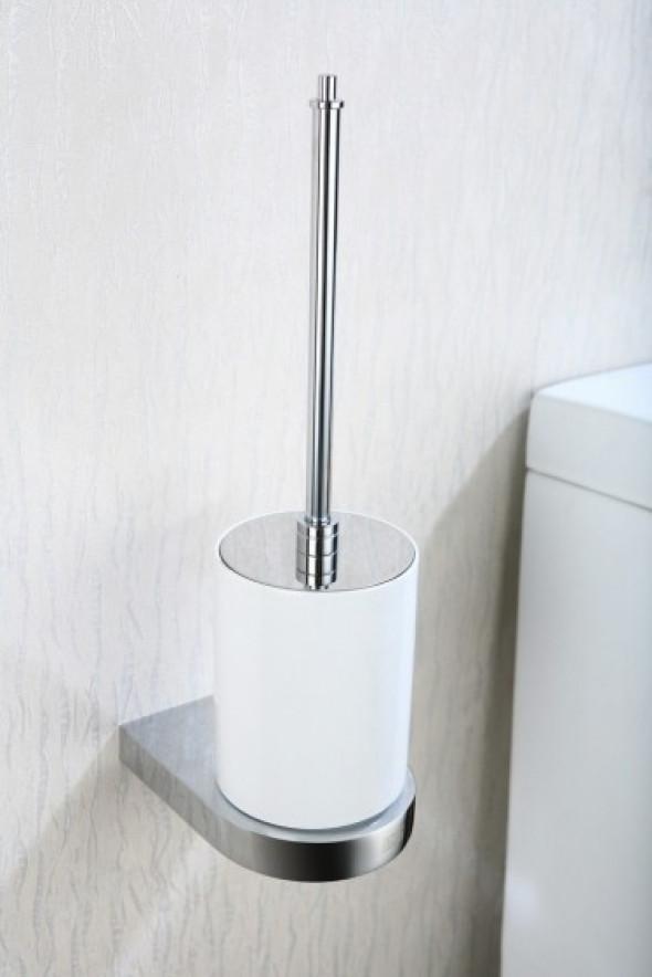 Art Platino Liwio Akcesoria szczotka wc wisząca biała porcelana chrom LIW-56090
