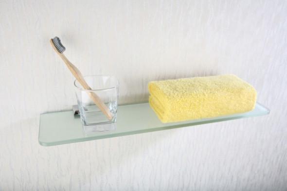Art Platino Rok Akcesoria półka szklana 50 cm szkło matowe chrom ROK-87080