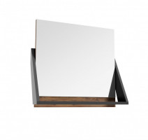 Defra Op-Arty lustro z półką orzech rockford + czarny mat 215-L-06007