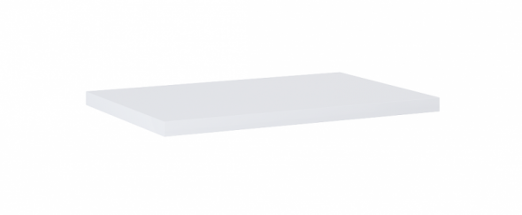 Elita Kwadro Plus blat pełny 60x40 cm biały HG PCV 166865