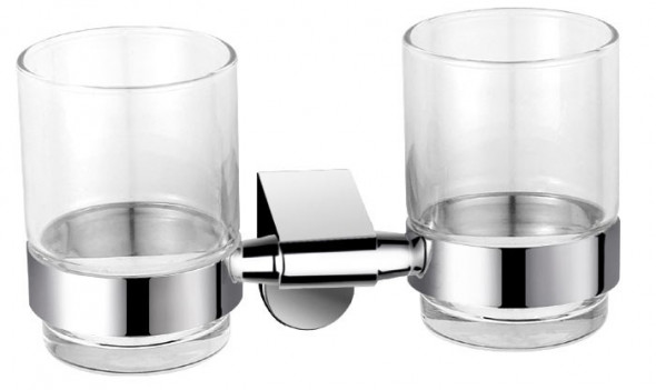 Ferro Audrey szklanka podwójna chrom szkło AD04