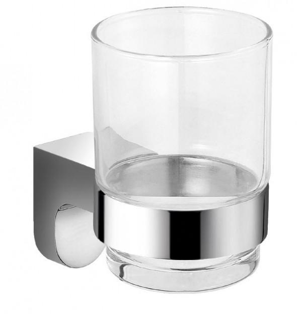 Ferro Audrey szklanka pojedyncza chrom szkło AD03