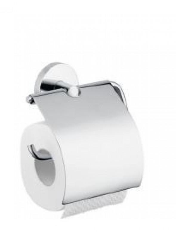 Hansgrohe Logis uchwyt na papier toaletowy z pokrywką chrom 40523000