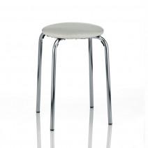 Kela Gerett stołek taboret łazienkowy, siedzisko chrom biały 18798
