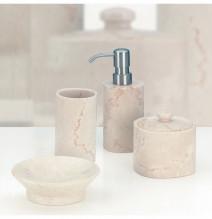 Kela Marble kaminne akcesoria łazienkowe 4 elementy lity marmur Carrara