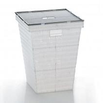 Kela Noblesse kosz na bieliznę 40x40x53 cm biały 21083
