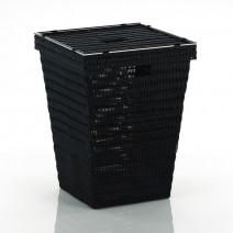 Kela Noblesse kosz na bieliznę 40x40x53 cm czarny 20968