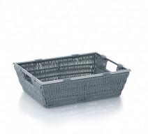 Kela Noblesse koszyk łazienkowy 26x16x7 cm szary 22600