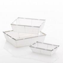 Kela Noblesse koszyk łazienkowy 33x25x10 cm biały 21117