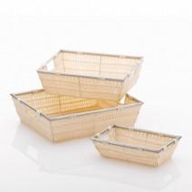 Kela Noblesse koszyk łazienkowy 33x25x10 cm kremowy 21118