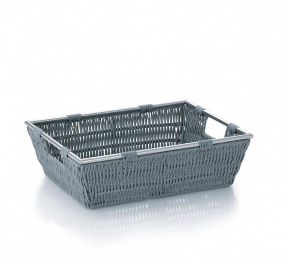 Kela Noblesse koszyk łazienkowy 33x25x10 cm szary 22601