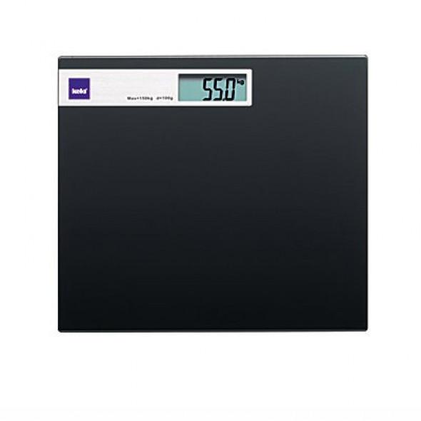 Kela waga łazienkowa Graphito czarne szkło 21298