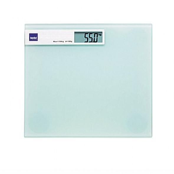 Kela waga łazienkowa Linda białe mleczne szkło 21299