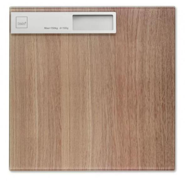 Kela waga łazienkowa Oak drewno dębowe szkło 21283