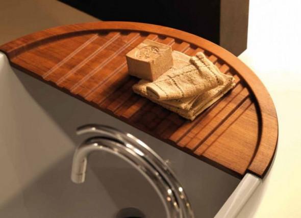 Kerasan Aquatech półka drewniana do wanny Teak 3751