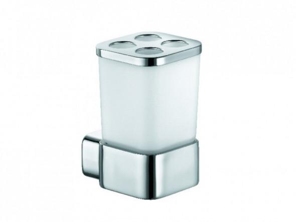 Kludi E2 uchwyt ze szklanką chrom/szkło 4998205