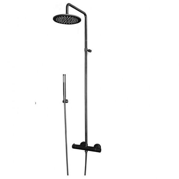 Paffoni Stick kolumna natryskowa termostatyczna czarny mat ZCOL684LIQNO