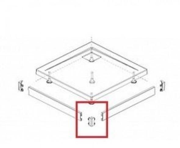 Radaway Argos C/D narożnik do obudowy do brodzika biały 003-019000304