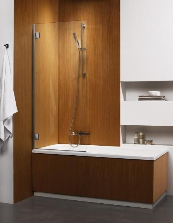 Radaway Carena PNJ parawan nawannowy jednoczęściowy 67 cm lewy chrom brązowe Easy Clean 202101-108L