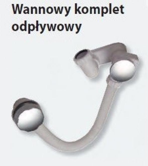 Ravak syfon wannowy z przelewem chrom X01305