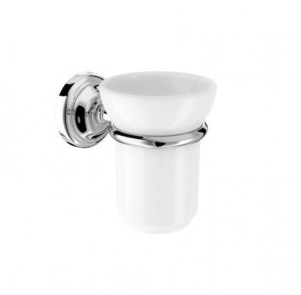 Roca Carmen pojemnik szklanka na szczoteczki porcelana/chrom A817007001