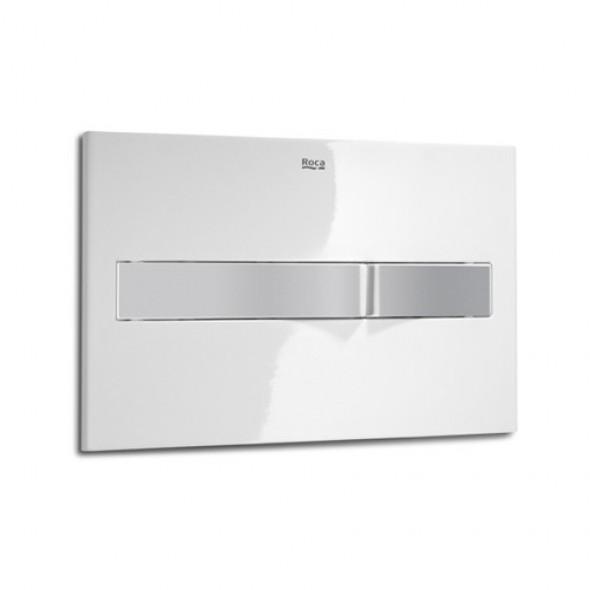 Roca Pro PL2 przycisk spłukujący do WC biały/chrom mat A890096005