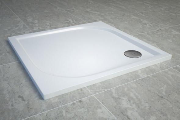 Sanswiss Tracy brodzik kwadratowy 80x80 konglomerat biały WAQ080004