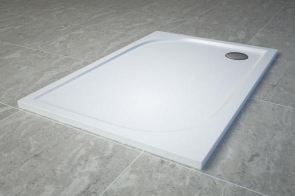 Sanswiss Tracy brodzik prostokątny 120x80 konglomerat biały WAA8012004
