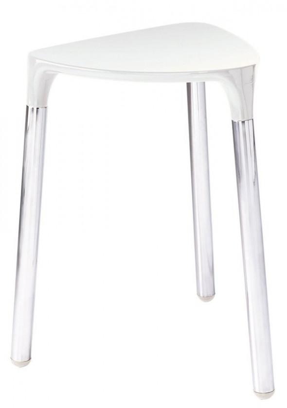 Sapho Gedy taboret łązienkowy składane biały/chrom 217202