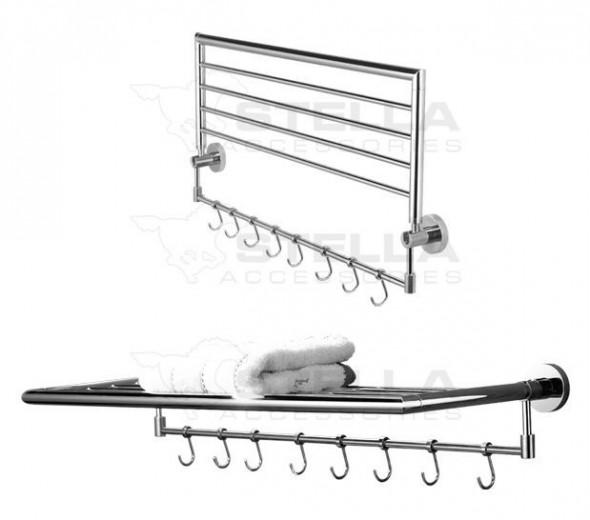 Stella Classic półka na ręczniki ruchoma chrom 07050