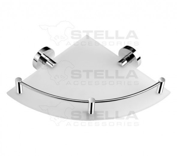 Stella Classic półka szklana narożna szkło matowe chrom 07861
