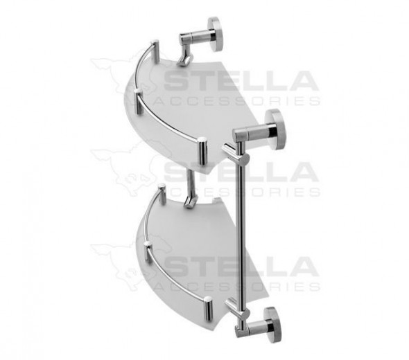 Stella Classic półka szklana podwójna szkło bezbarwne chrom 078111