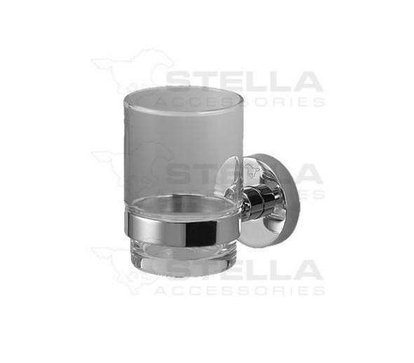 Stella Classic uchwyt ze szklanką szkło matowe chrom 07411