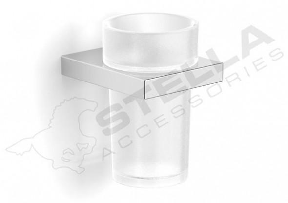Stella New York uchwyt ze szklanką szkło matowe chrom 05411