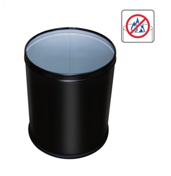 Stella pojemnik na śmieci 7 L właściwości przeciwpożarowe czarny 20102-B