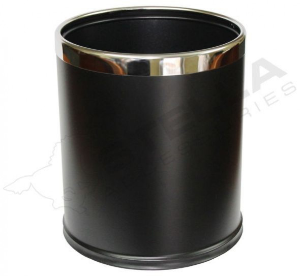 Stella pojemnik na śmieci 9 L zdejmowana obudowa stal czarny 20101
