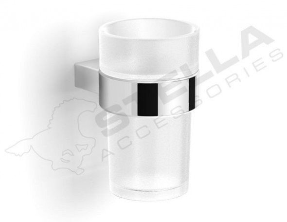 Stella Soul uchwyt ze szklanką szkło matowe chrom 06411