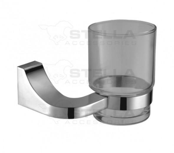Stella Square uchwyt ze szklanką szkło matowe chrom 04411